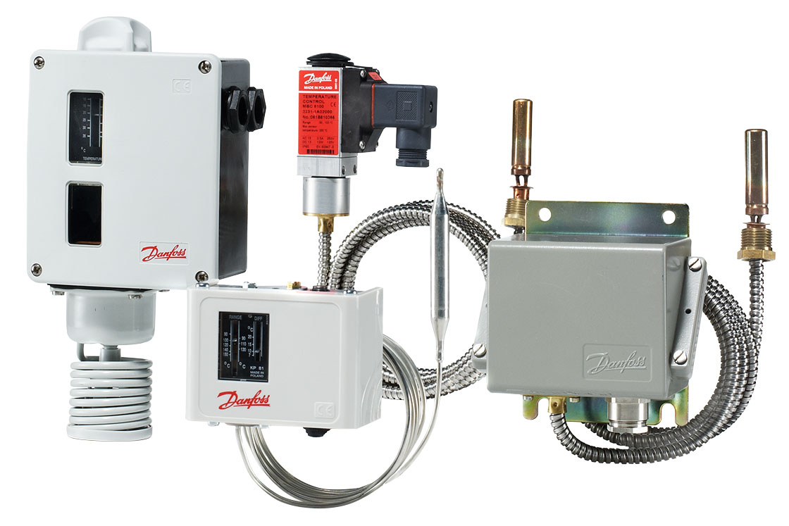 Industrial temperature switches and controls | Danfoss