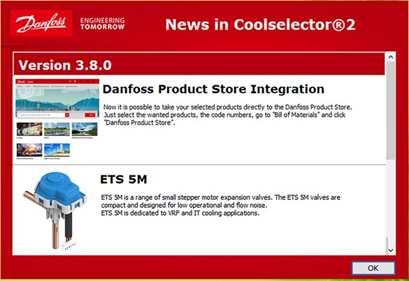Danfoss ETS 5M is now available in Coolselector®2