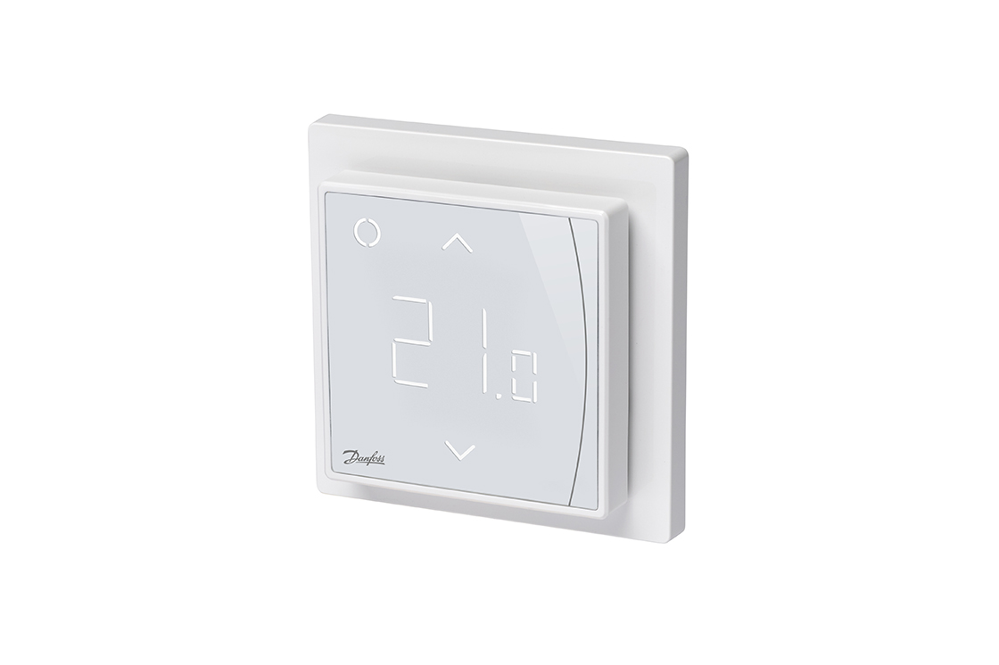 Smart thermostat for electrical underfloor heating   Danfoss on