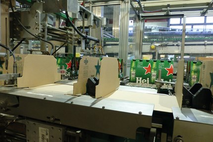 Heineken six-pack line is now fully synchronized while packaging 44,000 bottles per hour