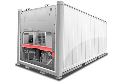 Reefer container air conditioning