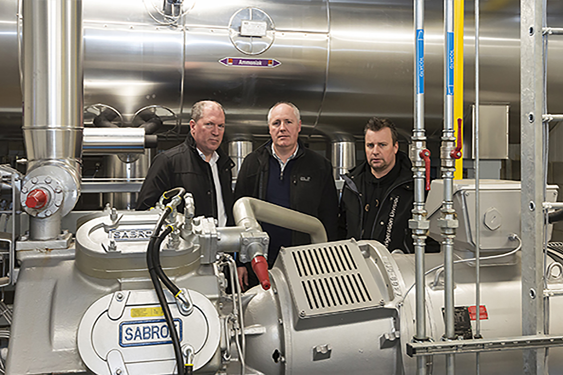 Three refrigeration experts [from left to right: Bruno Yperman, Danfoss; Yves Souvereyns, BelOrta; Bart Aerts, AB Coolservice]