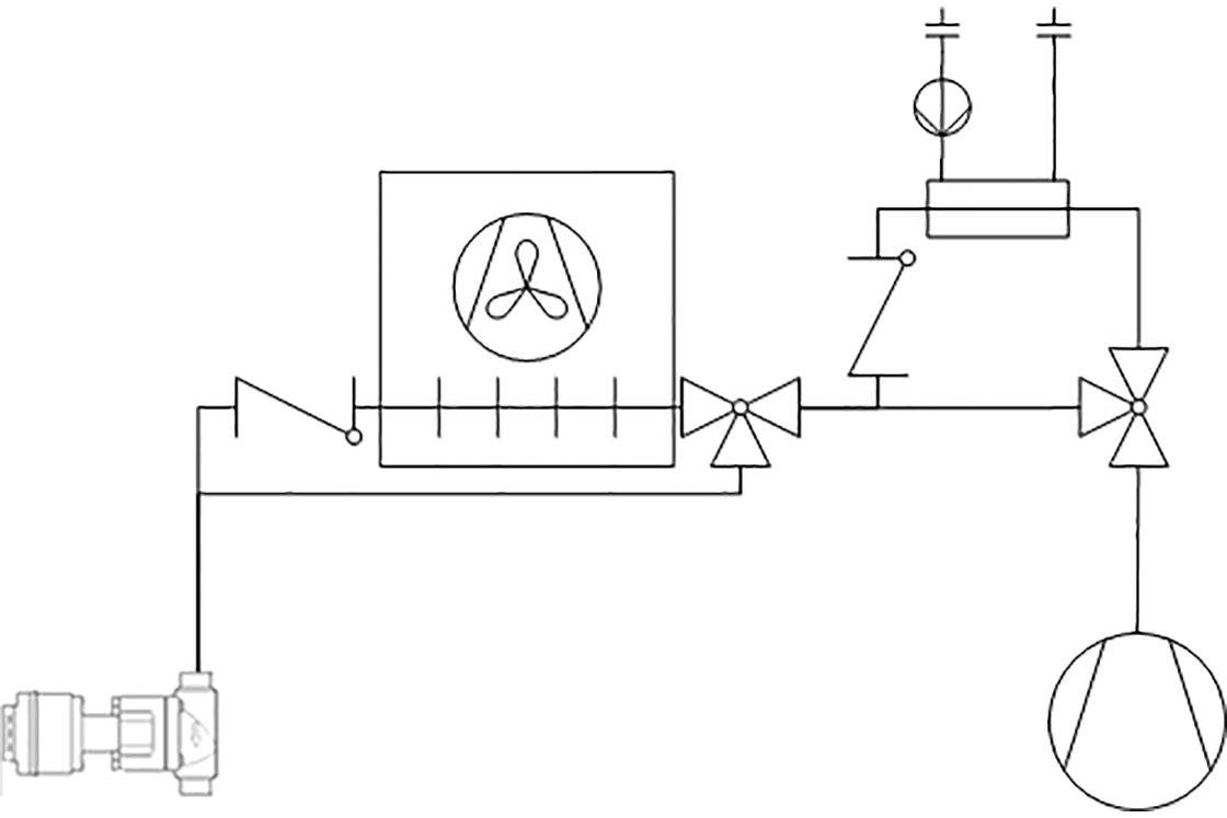 Figure 1: Basic system design for transcritical heat reclaim system