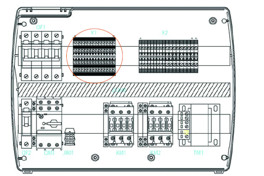 Optyma Controller And The Pump Down Function Danfoss Wiring Diagram Au Parameter Must Never Be Set At 4 As Is Made Electro Mechanically Inside Panel