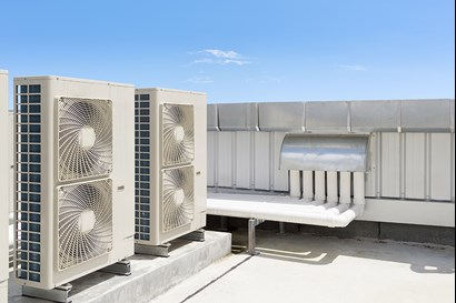 Air-handling unit, AHU, rooftop unit, roof top unit, ventilation unit, air conditioning, fan