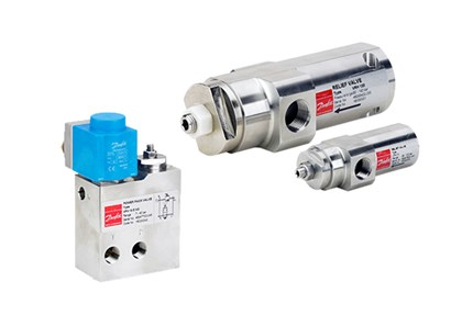 Danfoss VPH and VRH pressure relief valves for high-pressure applications