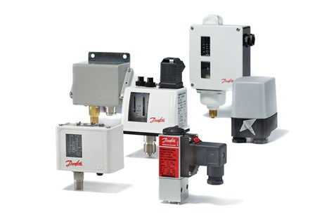 Danfoss pressure switches for industrial hydraulics
