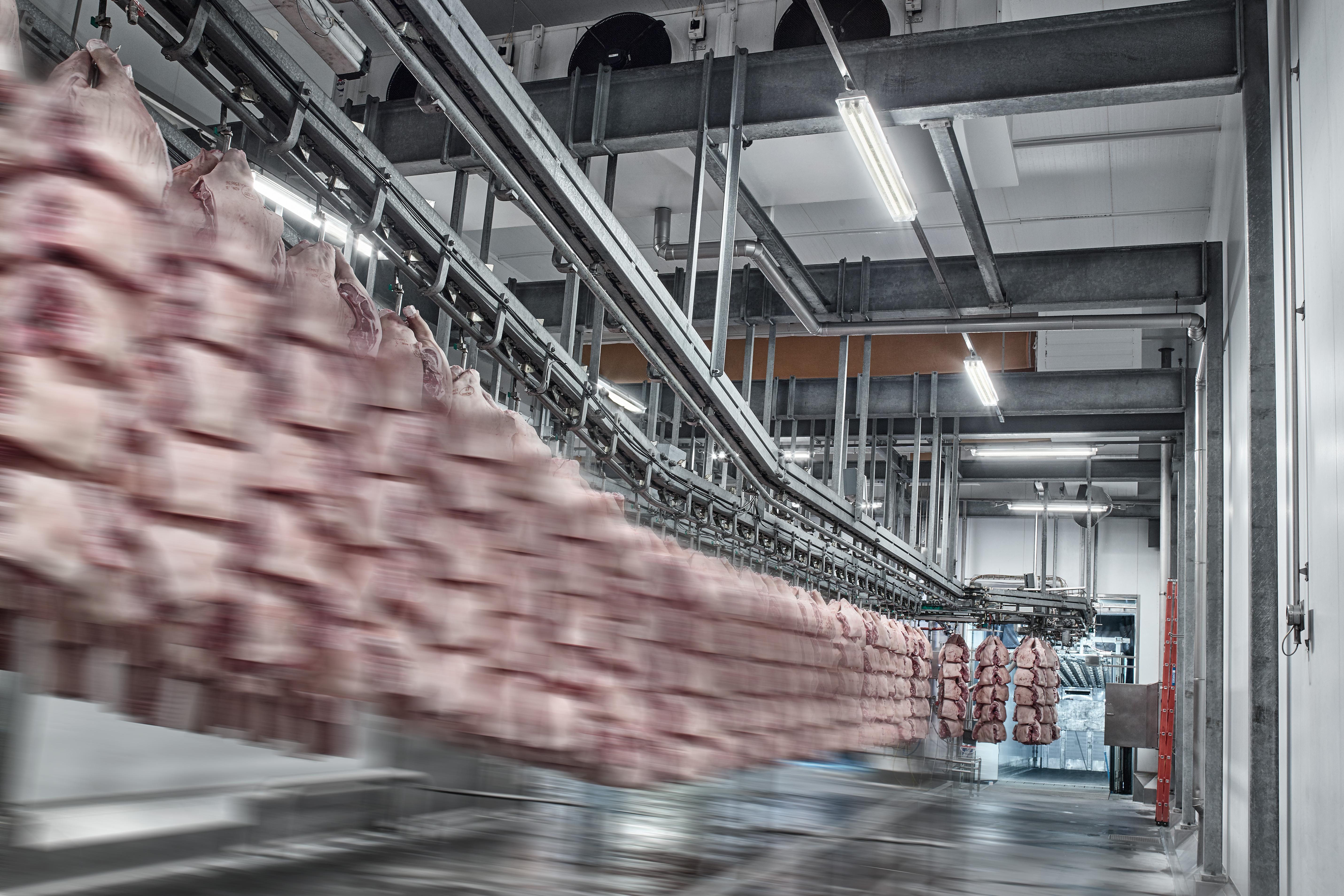 Productos de refrigeración industrial de Danfoss para aplicaciones de procesamiento de productos cárnicos