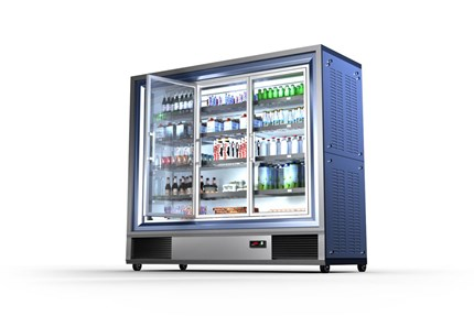Glass door merchandiser - Danfoss solutions for commercial refrigeration
