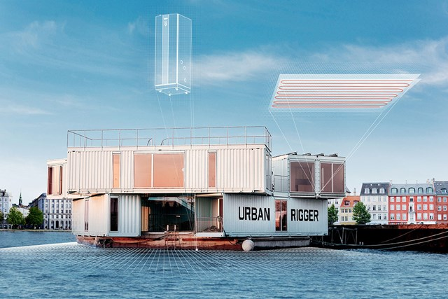 Urban Rigger modern floating houses in Copenhagen with innovative Danfoss solutions