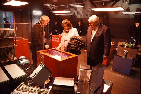 : Danfoss Chairman Jorgen Mads Clausen and his wife Anette Nohr Clausen visited the museum.