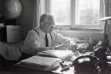 Mads Clausen in his office