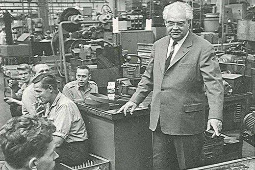 Mads Clausen in his old office, the founder of danfoss