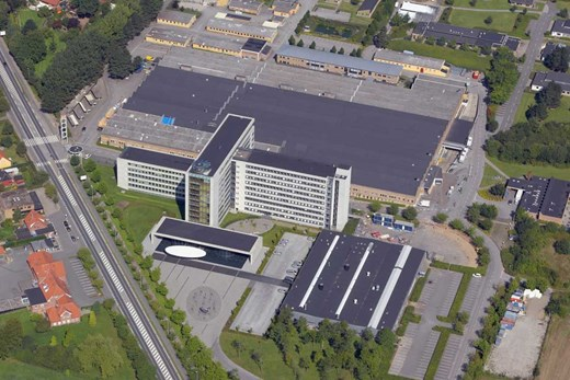 Aerial photo of Danfoss HQ, Nordborg 2008