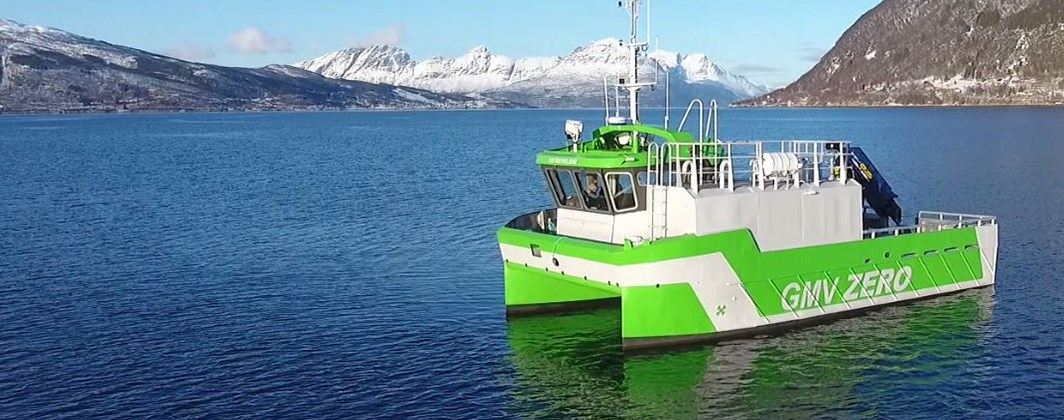 World's first fully electric workboat Astrid Helene
