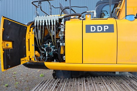 E-dyn® 96 Digital Displacement® pump inside a Danfoss powered excavator