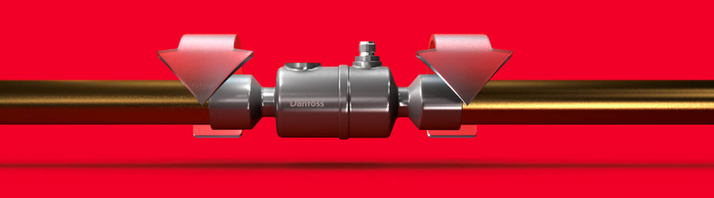 Image representation of the bi-metal solution for quick and easy brazing of the ETS colibri by Danfoss