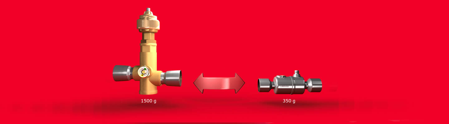 Image representation of the built in flexibility of the ETS colibri valve by Danfoss