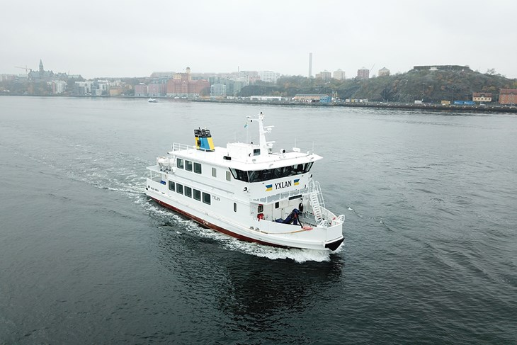 Stockholm's first hybrid ice-class passenger ferry