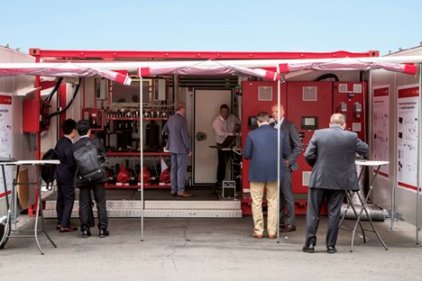 Attendees at the Danfoss Mobile Training Unit