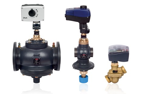 Assorted sized AB-QM valves shown with actuators