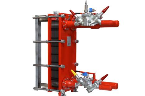 Semi-welded plate heat exchanger for industrial